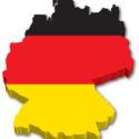 3D Deutschland Karte mit Flagge
