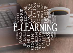 Schlagwortwolke E-Learning Konzept