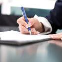Signatur eines Dokument