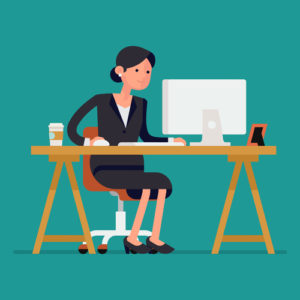 Frau an der Arbeit