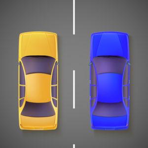 Zwei Autos auf einer Straße