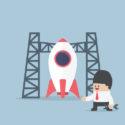 Raketenstart, Geschäftsmannbau-Raumfähre