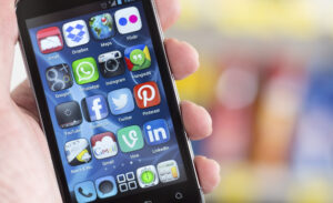 Social Media Icons auf Smartphone