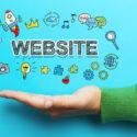 Website-Konzept mit Hand