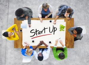Multi Ethnische Gruppe gründet Business Startup