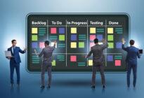 Businessmänner beim Konzept der agilen Methode