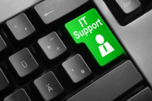 Tastatur grüne Taste IT Support Symbol