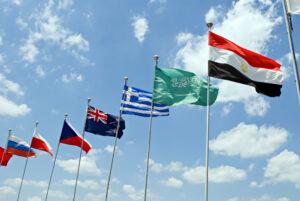 Verschiedene Nationalflaggen