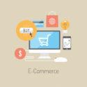 Flaches Illustrationskonzept des E-Commerce