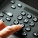 Wähltastatur auf einem Telefon
