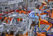 Autokarosserien in Fabrik