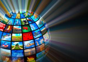 Medientechnologie-Konzept