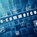 E-Commerce- und Geschäftszeichen in den blauen Glaswürfeln
