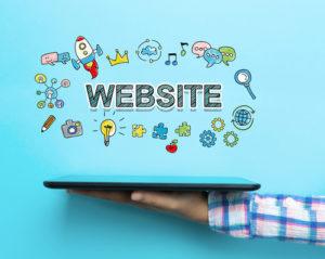 Website-Konzept mit einem Tablet