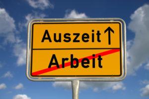 Deutsche Verkehrszeichenarbeit und -auszeit