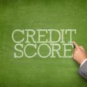 Kreditscoretext auf Tafel