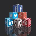 Verschiedene Social Media Boxen