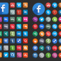 Verschiedene Social Media Icons