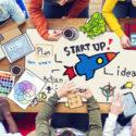 Verschiedene arbeitende Leute und Startgeschäftskonzept