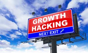 Wachstums Hacking, Aufschrift auf roter Anschlagtafel