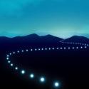 Beleuchtung führt zum Horizont