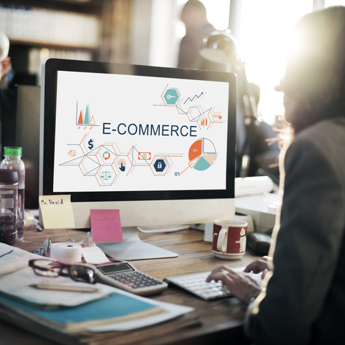 E-Commerce-globales Geschäfts-Digital-Marketing-Konzept