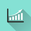 Steigende Finanzkurve