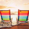 Hawaiisches Ferien-Sonnenuntergang-Konzept