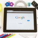 Google auf dem iPad 3 mit Schulzubehör