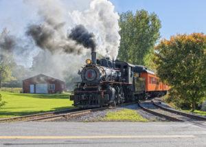 Alte Dampf Lokomotive