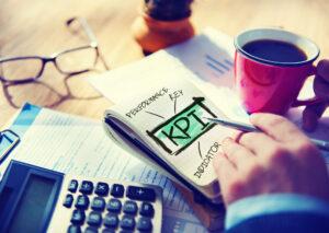 KPI auf Notizblock