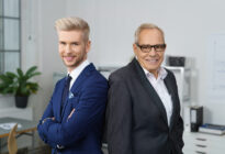 Zwei Businesspartner