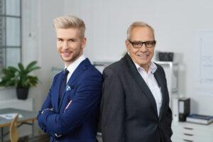 Zwei Businesspartner