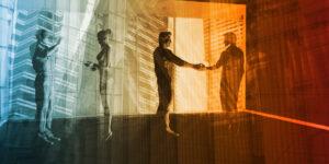 Businessleute und Kunst
