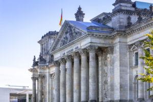 Reichstagsgebäude in Berlin, Deutschland. Deutsches Parlamentshaus.