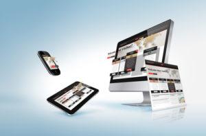Angepasste Website auf PC, Tablet und Smartphone
