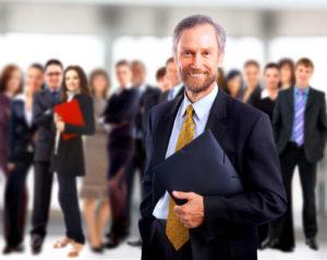 Teamwork-Konzept mit Manager