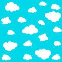 Nahtloses Muster der Wolke auf blauem Hintergrund. Vektor-illustration
