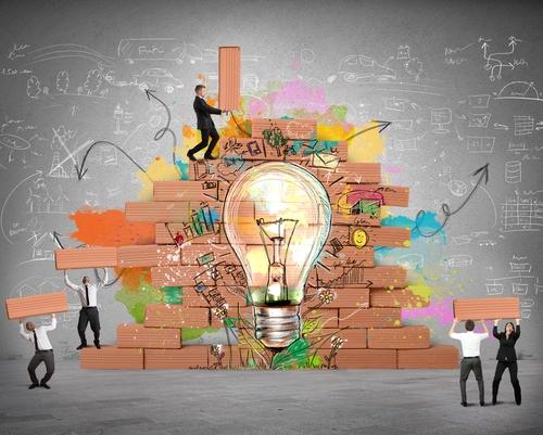 Eine neue kreative Idee aufbauen