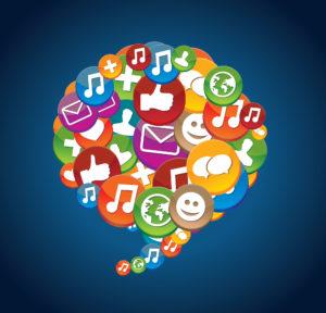 Social Media Icons - Kommunikation