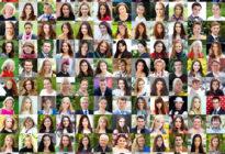 Collage, glückliche Menschen
