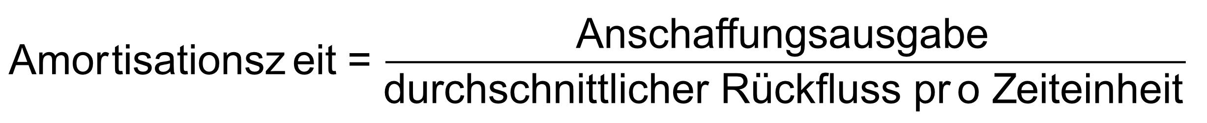 Formel zur Berechnung der Amortisationszeit