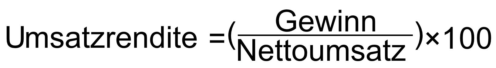 Formel zur Berechnung der Umsatzrendite