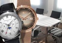 Grafik Luxus-Uhren von Mido und Constant