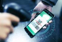 Bargeldloses Bezahlen mit QR-Code auf Smartphone