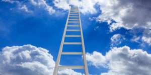 Leiter, die in den Himmel führt