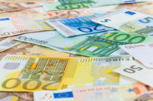 Verschiedene Eurogeldscheine