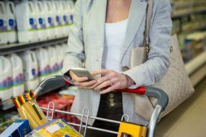 Smartphone für Automatisierung im Einzelhandel