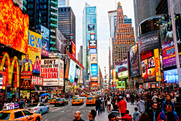New York City am Times Square
