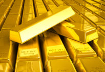 Mehrere Goldbarren